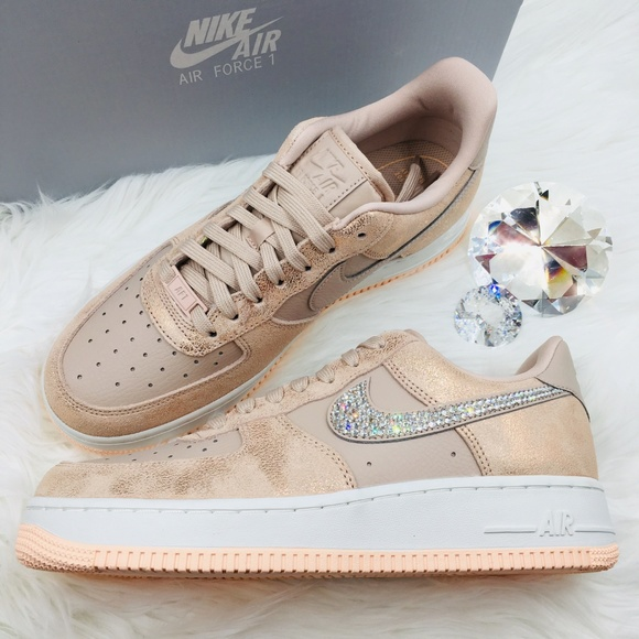 Rose Gold Swarovski Nike Air Force 1  07 Premium 2b0cf4c37c20